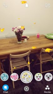 snapchat flying butterflies lens