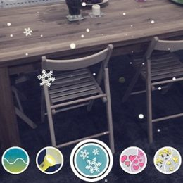 Snapchat World Lens snowfall effect.