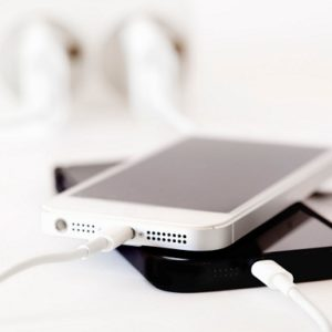 Wall outlet charging iPhones