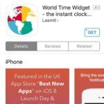 world time widget app store promo