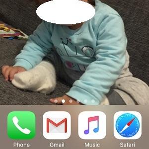 blank iPhone Home Screen