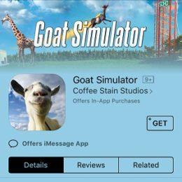 Goat Simulator gone FREE in App Store.