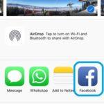 iOS Facebook share button