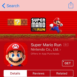 Super Mario Run  App Store page