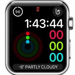 Apple Watch disconnected from iPhone status.