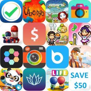 app store app sales for week 18