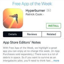 hyperburner free app of the week