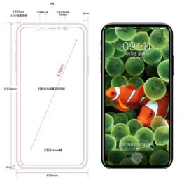 iphone 8 full vision display render