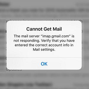 iphone get mail error message