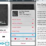 tap for apple music lyrics