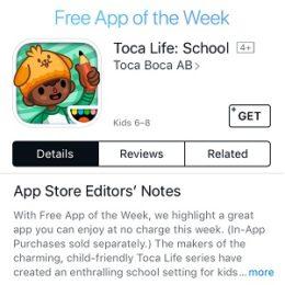 toca life school free app of the week sale