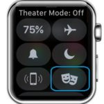 apple watch theater mode off