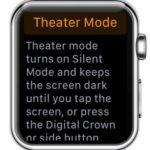 apple watch theater mode screen