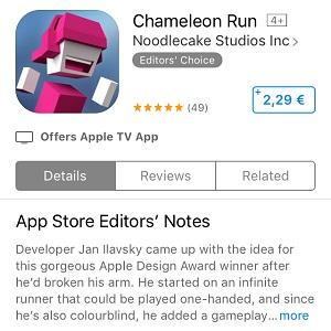 chameleon run app store screen