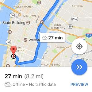 google maps for ios offline navigation