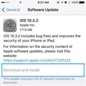 greyed out download and install software update button
