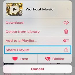 ios 10 share apple music playlist feature