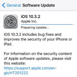 ios 10.3.2 software update