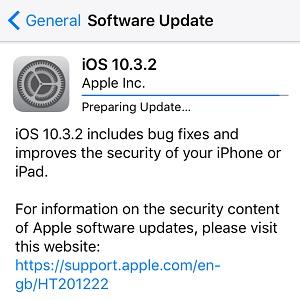 ios 10.3.2 software update