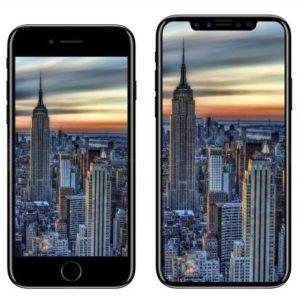 iPhone 8 vs iPhone 7 2D comparison