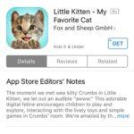 little kitten app store download page