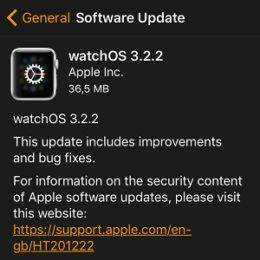 watchos 3.2.2 software update screen