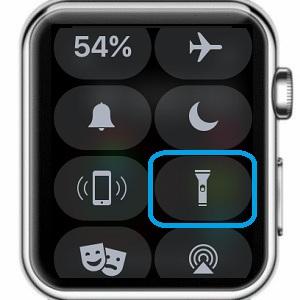 apple watch flashlight icon in watchos 4 control center