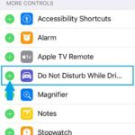 do not disturb while driving control center setup