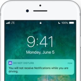 do not disturb while driving ios 11 feature