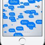 echo messages screen effect