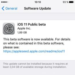 ios 11 Public beta software update
