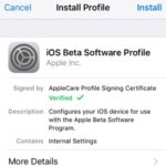 ios 11 beta profile install screen