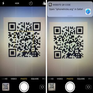 ios 11 camera qr scanning demo