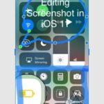 iOS 11 edit screenshot feature
