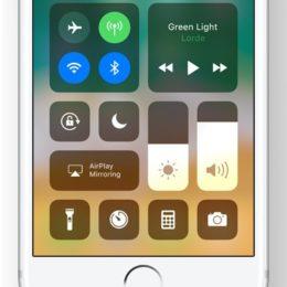 iOS 11 iPhone Control Center.