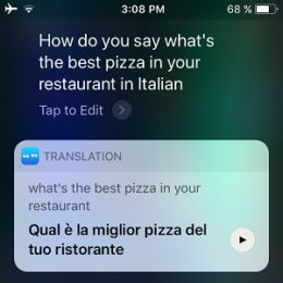 ios 11 siri translation demo