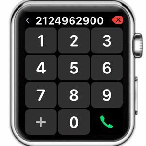 apple watch phone keypad in watchos 4