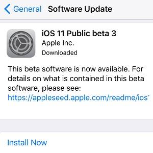 ios 11 public beta 3 software update