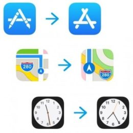 app store, maps and clock icon changes in ios 11 beta 6