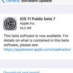 ios 11 beta 8 software update screen