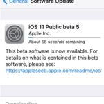 ios 11 public beta 5 software update