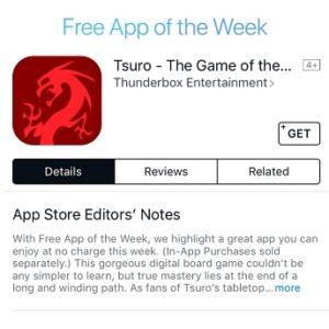 Tsuro App Store Free App of the Week.