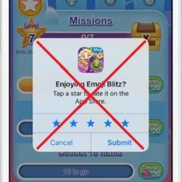 app store app rating popup