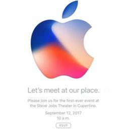 apple iphone 8 september 12 keynote invite