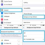 how to configure background app refresh in ios 11