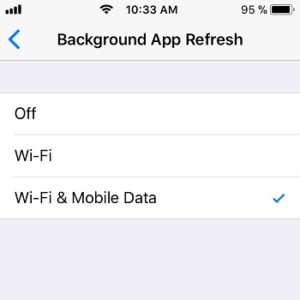 ios 11 background app refresh options