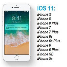 ios 11 compatible iphone models