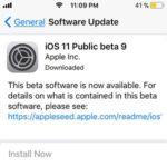ios 11 public beta 9