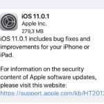 ios 11.0.1 release note