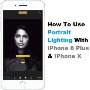 iphone 8 plus portrait lighting feature